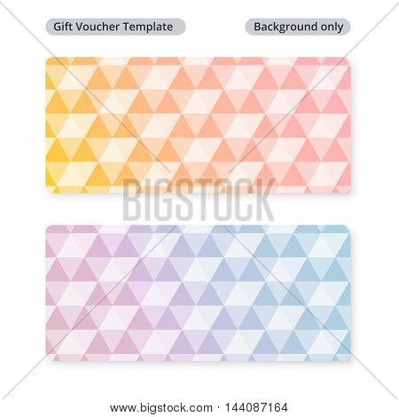 Luxury gift voucher template. promotion card Coupon design. vector stock.