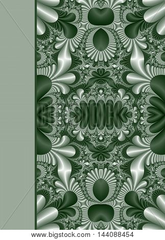 Design of beautiful floral ornamental notebook cover