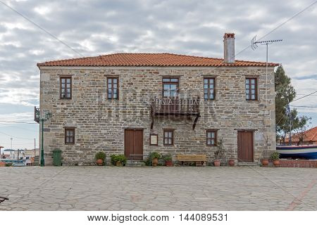 Old stone house in Ammouliani island, Athos, Chalkidiki, Central Macedonia, Greece