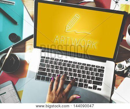 Art Pencil Drawing Creativity Imagination Skills Concept