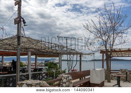 Embankment of Ouranopoli, Athos, Chalkidiki, Central Macedonia, Greece