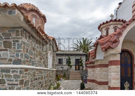 Small churches in Ouranopoli, Athos, Chalkidiki, Central Macedonia, Greece