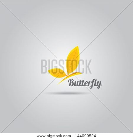 vector orange Abstract logo butterfly. vector butterfly icon