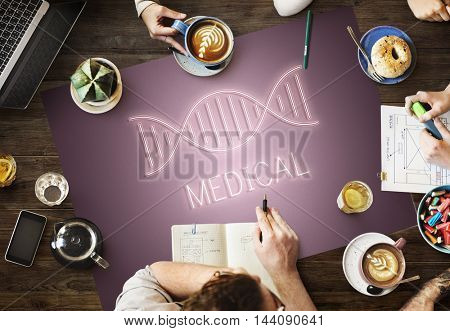 DNA Helix Life Science Graphic Concept