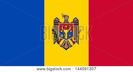 Illustration of the national flag of Moldova