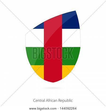 Flag Of Central African Republic In The Style Of Rugby Icon.