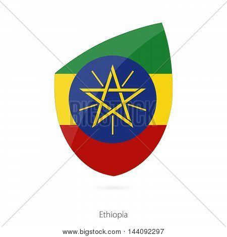 Flag Of Ethiopia. Ethiopian Rugby Flag.