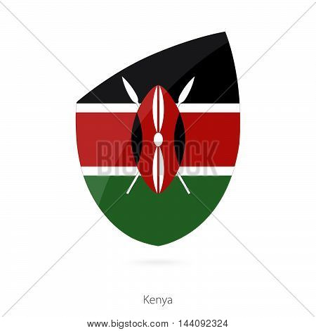 Flag Of Kenya In The Style Of Rugby Icon.