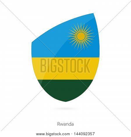 Flag Of Rwanda. Rwanda Rugby Flag.