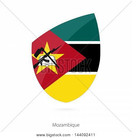 Flag Of Mozambique In The Style Of Rugby Icon.