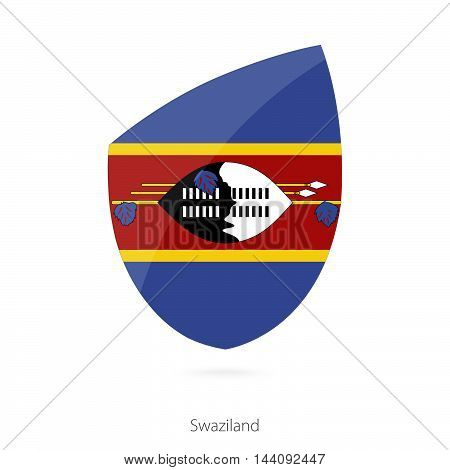 Flag Of Swaziland In The Style Of Rugby Icon.