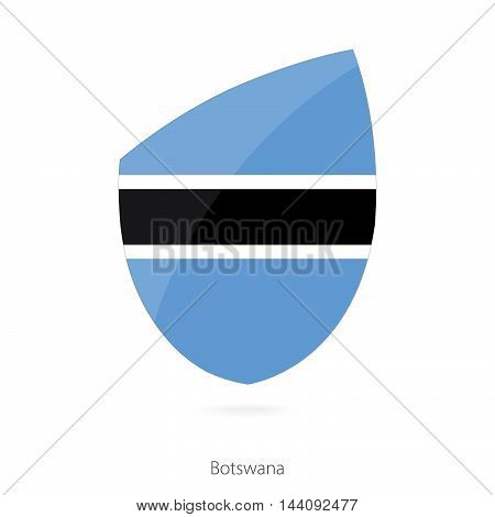 Flag Of Botswana In The Style Of Rugby Icon.