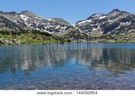 Panorama of Demirkapiyski chuki and Dzhano peaks, Popovo lake, Pirin Mountain, Bulgaria