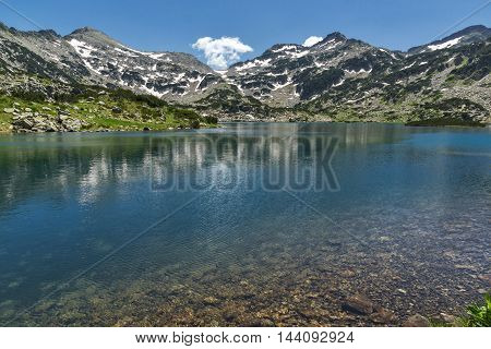 Amazing Panorama of Demirkapiyski chuki and Dzhano peaks, Popovo lake, Pirin Mountain, Bulgaria