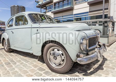 COLOGNE GERMANY - AUG 7 2016: Historic Volvo PV 544 from ca. 1960 at an exhibition in the city of Cologne Germany