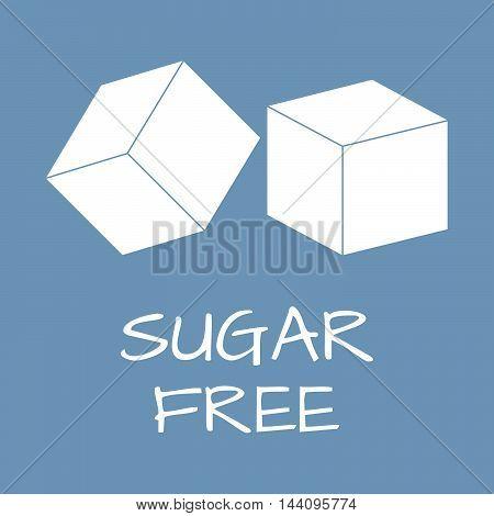 Sugar Free Label. Food Intolerance Symbols. Vector Illustration.