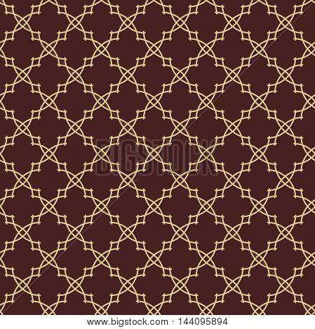 Seamless vector ornament in arabian style. Golden pattern for wallpapers and backgrounds