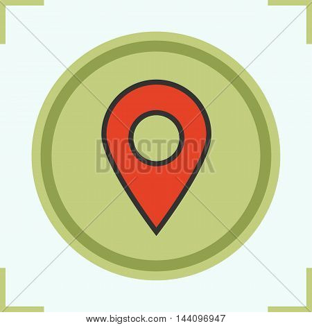 Pinpoint color icon. Geolocation mark. Location map pointer. Vector place marker isolated illustration