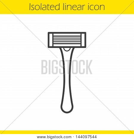 Shaver linear icon. Thin line illustration. Shaving razor contour symbol. Vector isolated outline drawing