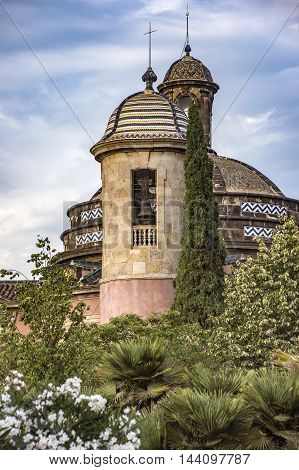 The Military Parish Church in the Ciutadella Park in Barcelona. It was built in 1720 and is a small chapel with a cross - shaped plan.