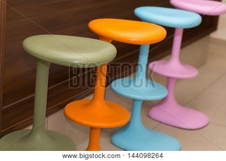 more colorful bar stool for gastronomy - color chairs