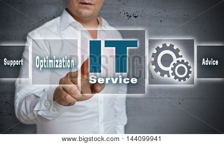 it service touchscreen concept background template picture