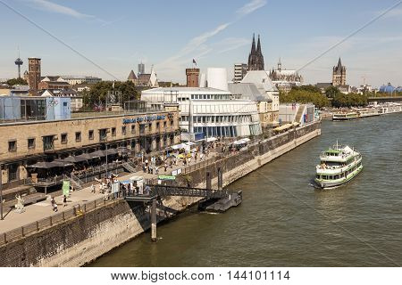 COLOGNE GERMANY - AUG 7 2016: Olympic and Chocolate Museum in the city of Cologne. North Rhine-Westphalia Germany