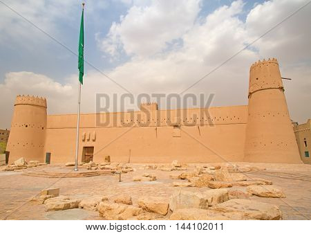 Old Al Masmak fort in the Ar Riyadh, Kingdom of Saudi Arabia