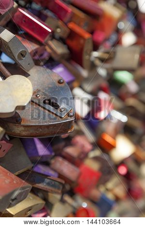 Lovelocks at the Hohenzollern Bridge in Cologne Germany