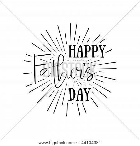 Happy Father's Day Retro Calligraphic Vector Design Element. Happy Father's Day Vintage Typographica