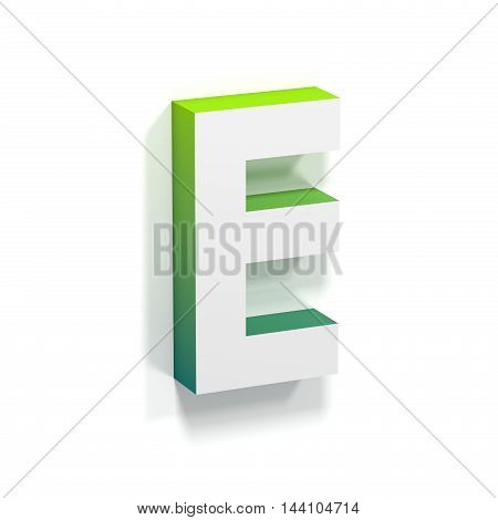 Green Gradient And Soft Shadow Letter E