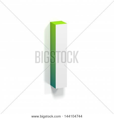 Green Gradient And Soft Shadow Letter I