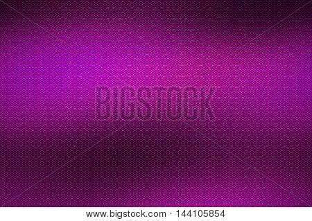 purple chrome metallic mesh. metal background and texture. 3d illustration.
