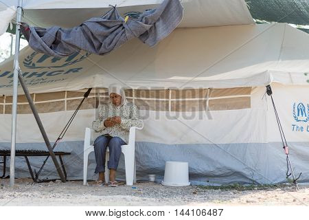 Refugee Camp Of Lagadikia, Greece