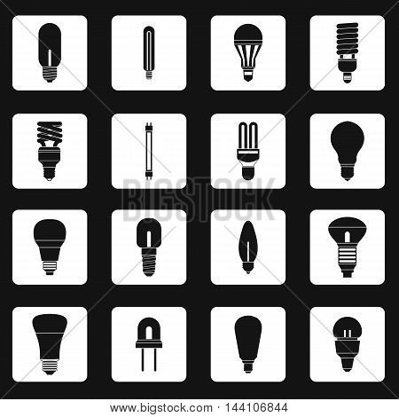 Light bulb icons set in simple style. Electric bulbs set collection vector illustration