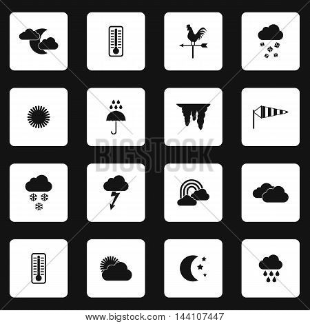 Weather icons set in simple style. Forecast and meteorology symbols set collection vector illustration