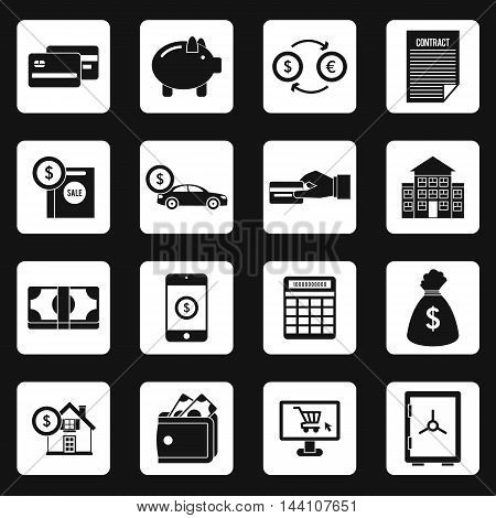 Banking icons set in simple style. Financial service set collection vector illustration