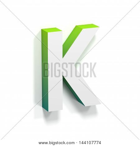 Green Gradient And Soft Shadow Letter K