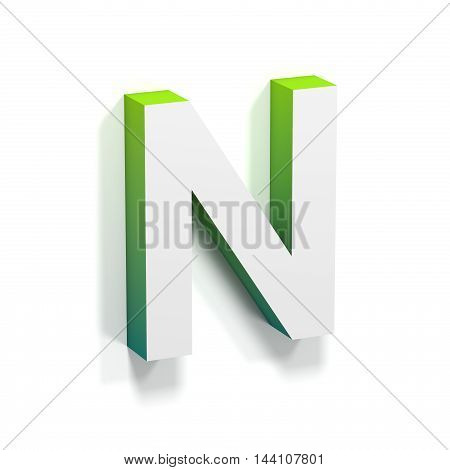Green Gradient And Soft Shadow Letter N