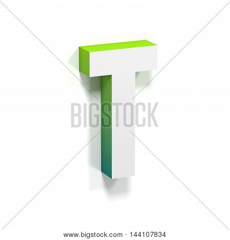 Green Gradient And Soft Shadow Letter T