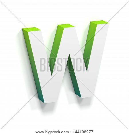 Green Gradient And Soft Shadow Letter W