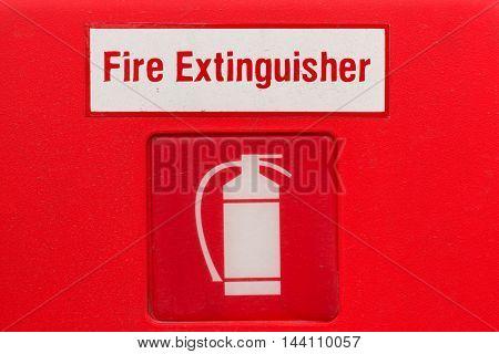 Fire extinguisher sign (fire extinguisher symbol label)