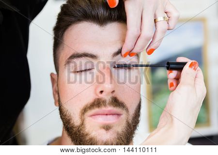 Woman Making Beauty And Make Up Treatment In A Saloon.