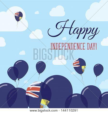 Saint Helena Independence Day Flat Patriotic Design. Saint Helenian Flag Balloons. Happy National Da