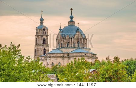 Ancient Trinity Cathedral is located in the village in the pseudo-Gothic style of Gus-Iron