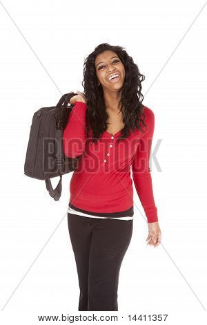 African American Woman Bag Shoulder