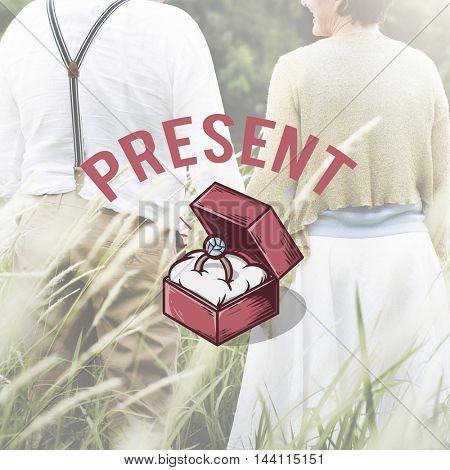 Marriage Proposal Wedding Love Ceremony Concept