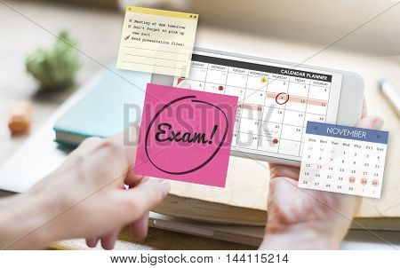 Exam Education To Do Review School Schedule Concept