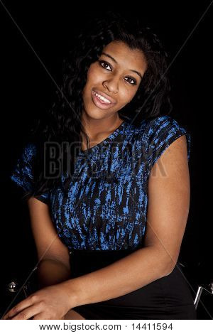 Woman African American Smile Portrait