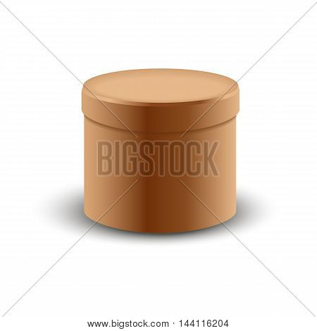 Brown carton delivery packaging box isolated on transparent background vector illustration. opened box